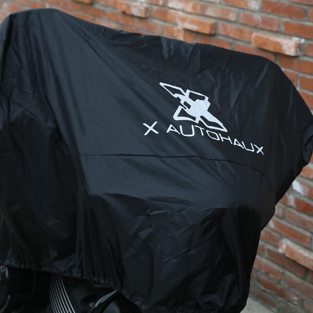 X-AUTOHAUX-M-L-XL-SIZE-Motorcycle-Half-Cover-210T-universal-Outdoor-Waterproof-Dustproof-Rain-Dust-2