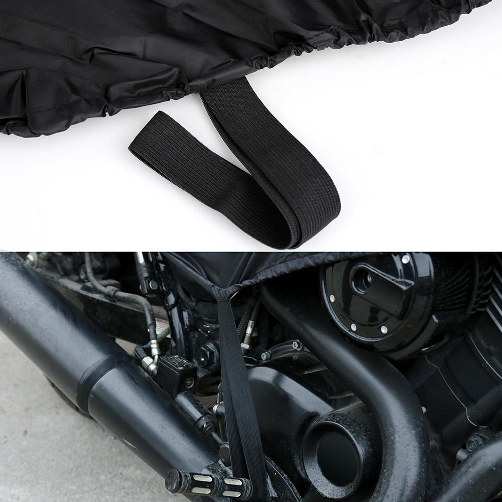 X-AUTOHAUX-M-L-XL-SIZE-Motorcycle-Half-Cover-210T-universal-Outdoor-Waterproof-Dustproof-Rain-Dust-3