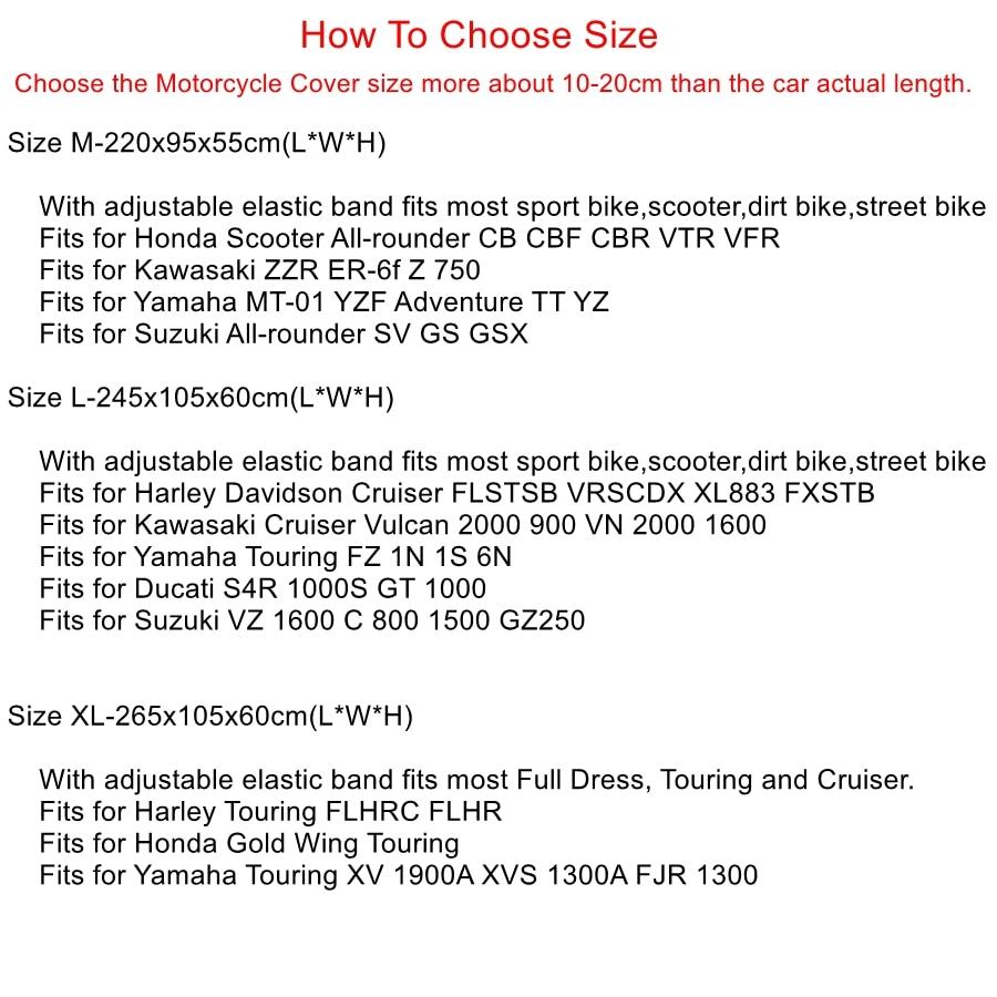 X-AUTOHAUX-M-L-XL-SIZE-Motorcycle-Half-Cover-210T-universal-Outdoor-Waterproof-Dustproof-Rain-Dust-5